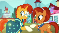 Stellar notices Sunburst's cutie mark glowing S8E8