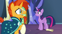 "Sunburst ""doesn't mean we have to be foals"" S7E24"