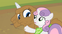 Sweetie Belle noticing horn S2E05