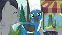 Thunderlane smiles tenderly at his little brother S7E21