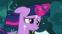 Twilight Sparkle drenched in milk S7E3