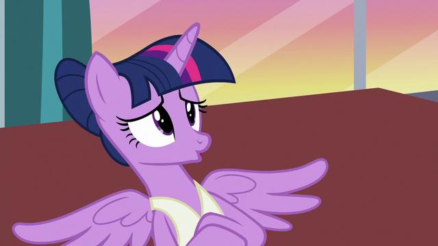 "File:Twilight Sparkle gives a prolonged ""no"" S7E10.png"