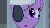 Twilight wearing an eye patch and headband S2E20