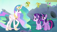 Celestia --leave the Changeling Kingdom to the changelings-- S6E26