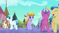 Crystal Ponies having fun at the Faire S3E01.png