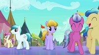 Crystal Ponies having fun at the Faire S3E01
