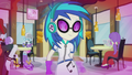 DJ Pon-3 looking toward Mane 5 EG2.png