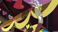 Discord looking around the barn S8E10