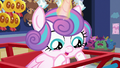 Flurry Heart looking at the cart's wheels S7E3.png