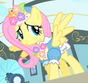 Fluttershy flowery outfit ID S1E20