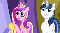 "Princess Cadance ""for dinner, not to babysit"" S7E3"