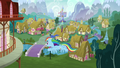 Rainbow Dash flying into town S6E7.png