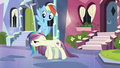 Rainbow Dash looking at local pony S3E1.png