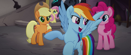 Rainbow Dash rallying her friends MLPTM