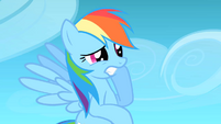 Rainbow Dash sees that her cloud almost hit Celestia S1E16