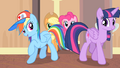 Rainbow and Twilight enters the room S4E08.png