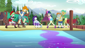 Rarity discovers gem dust in the lake water EG4.png