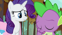 Spike sighing with embarrassment S8E11