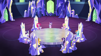 Starlight speaking to Mane Six in the throne room S6E25