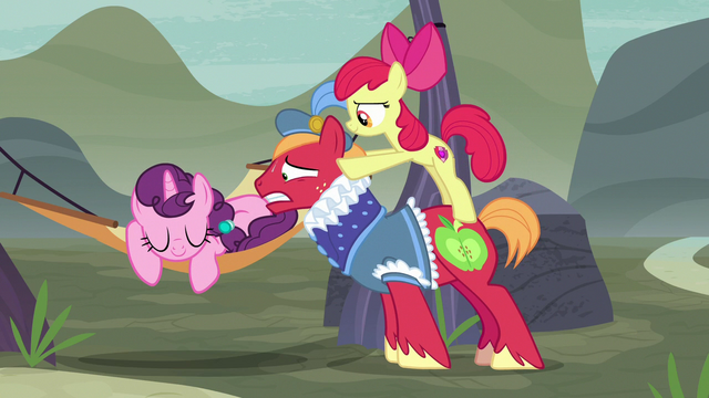 File:Apple Bloom pushes Big Mac even closer to Sugar Belle S7E8.png