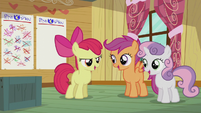 "CMC sings together ""Cause the Cutie Mark Crusaders don't give in"" S5E18"