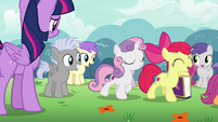 Cutie Mark Crusaders enjoying their popularity S7E14