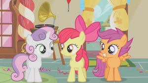 Cutie Mark Crusaders first meet S01E12