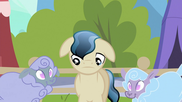 File:Depressed Crystal Pony next to sheep S3E2.png