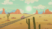 Desert and the railroad