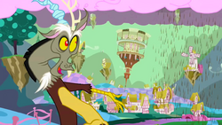 "Discord, ""First changes of Ponyville"" S02E02"