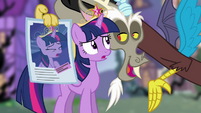 Discord holding poster S4E2