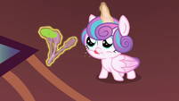 Flurry Heart flings mashed peas at the wall S7E3