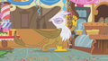 Gilda downing a glass of punch S1E05.png