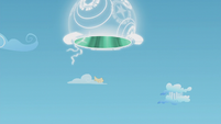Magic scroll flutters down from the portal S5E25