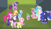 Mane 6 and princesses -you guess-!- S4E24