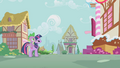 Pinkie Pie beckoning to Twilight and Spike S1E09.png