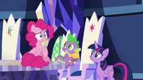 Pinkie Pie realizing what she said S9E14
