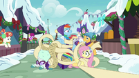 RD, Rarity, and Fluttershy tangled in Twilight's list MLPBGE