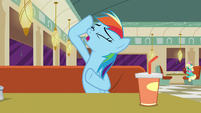 Rainbow Dash imitating Rarity S6E9