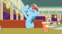 Rainbow Dash imitating Rarity S6E9