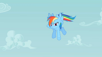 Rainbow Dash pointing down S2E08