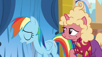 Rainbow Dash sighing in disappointment S8E5