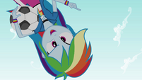 "Rainbow Dash upside down ""that's game!"" EG"