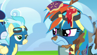 Rainbow glaring at the Wonderbolts S6E7
