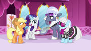 Rarity introduces Photo Finish and Hoity Toity to Applejack S7E9