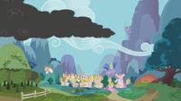 Smoke approaches Ponyville S01E07
