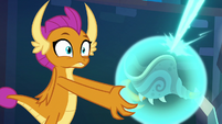Smolder about to remove the artifact S8E26