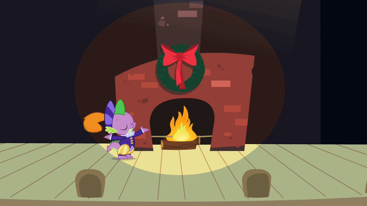 image spike next to fireplace s2e11 png my little pony