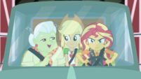 Sunset Shimmer driving Granny's truck CYOE5b