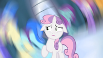 Sweetie Belle in a spiraling nightmare S4E19